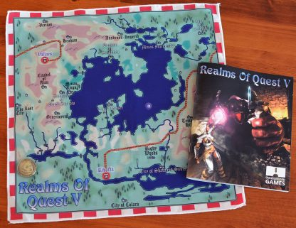 Realms of Quest V - Map, coin and manual