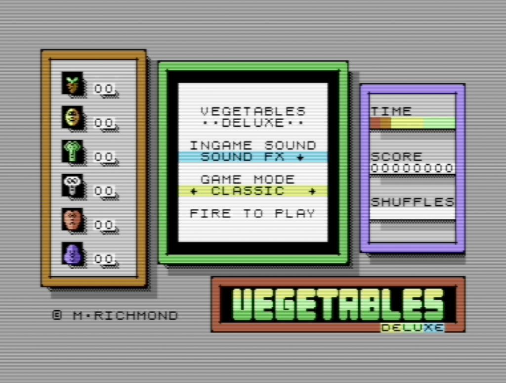 Vegetables Deluxe Menu