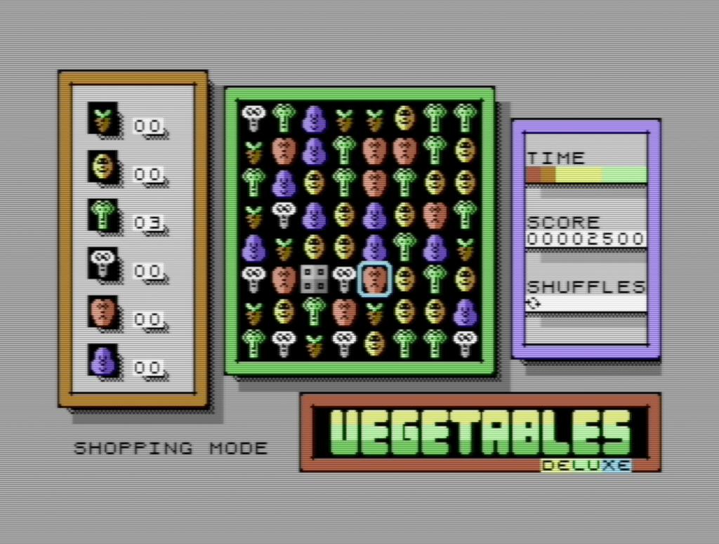 Vegetables Deluxe Shopping Mode