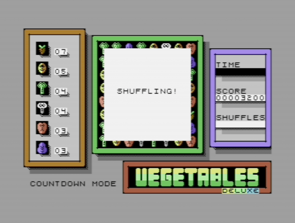 Vegetables Deluxe Shuffling