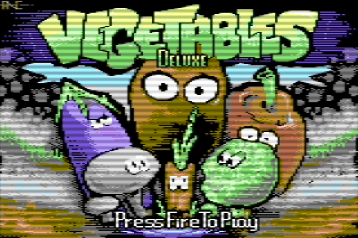 Vegetables Deluxe Title Screen