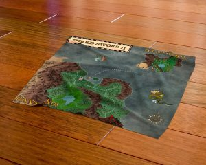 3D render of the cloth map included with the boxed edition